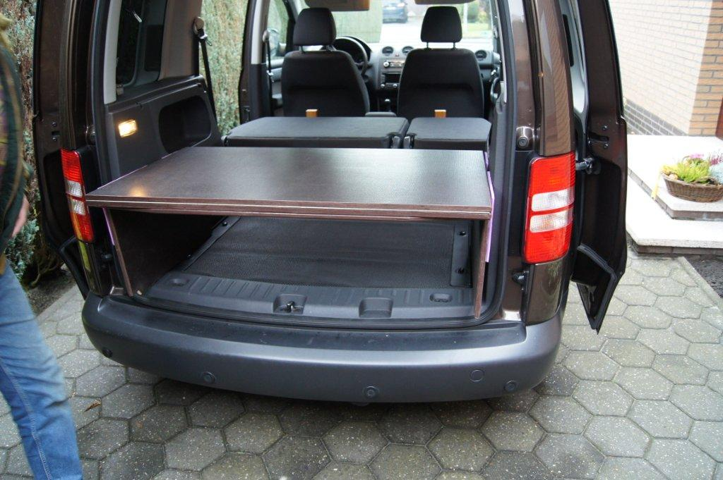 selbstbau bett f r vw caddy. Black Bedroom Furniture Sets. Home Design Ideas